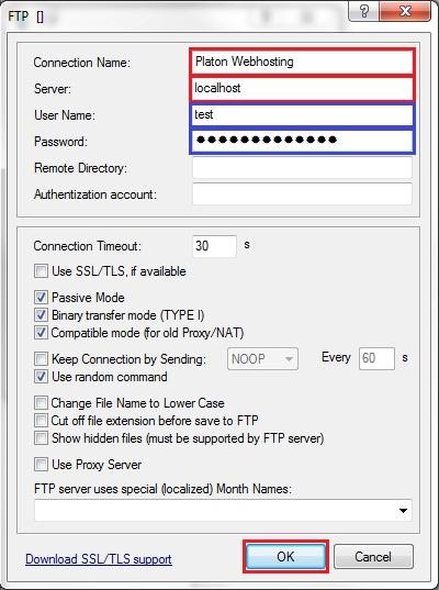 SFTP in PSPad via Tunnelier | Platon net Support